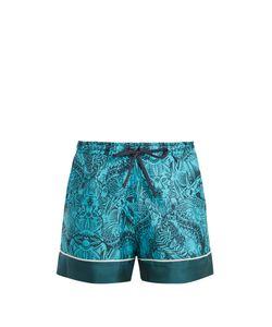 Mary Katrantzou   Rook Dragon-Print Silk-Twill Shorts