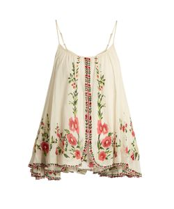 Mes Demoiselles | Josephine Embroidered Cotton Top
