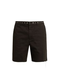 Saint Laurent | Embellished-Waist Cotton Shorts