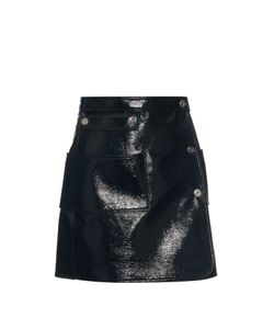 Courrèges | Patent-Leather Effect Mini Skirt