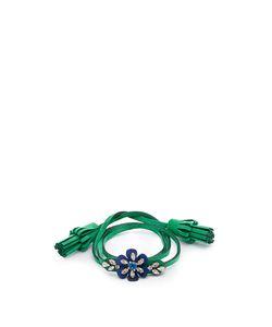 Shourouk | Crystal-Embellished Flower Alcantara Bracelet