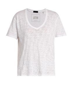 ATM | Deep V-Neck Cotton T-Shirt