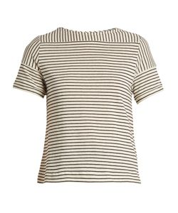 A.P.C. | Malia Striped Cotton-Blend Jersey Top