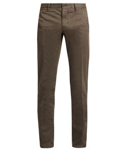 Incotex | Slim-Fit Cotton-Blend Chino Trousers