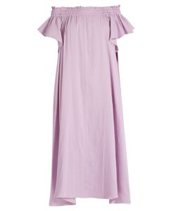 LOUP CHARMANT   Hydra Off-The-Shoulder Cotton Dress