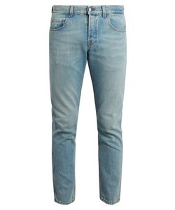 Gucci | Loved-Appliqué Slim-Leg Cropped Jeans