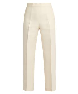 Fendi | Wide-Leg Wool-Blend Cropped Trousers