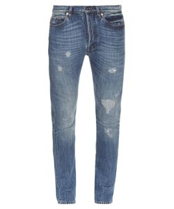 Valentino | Distressed Slim-Leg Jeans