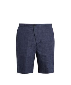 HELBERS | Mid-Rise Linen Shorts