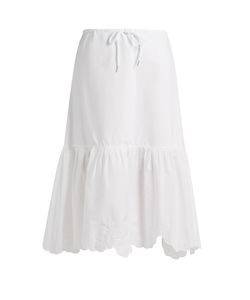 See by Chloé | Drawstring-Waist Cotton-Poplin Skirt