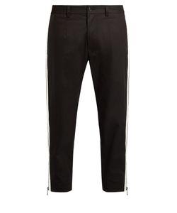 Dolce & Gabbana | Side-Zip Cropped Piqué Trousers