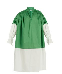 Vika Gazinskaya | Bi-Colour Cotton-Poplin Dress