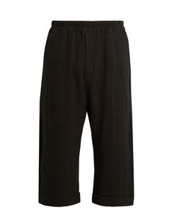 By Walid | Pierre Cropped Antique-Linen Trousers