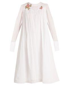 Natasha Zinko | -Appliqué Cotton-Voile Dress