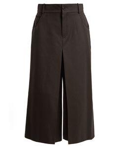 Chloé   High-Rise Wide-Leg Wool-Blend Cropped Trousers