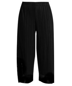 Pleats Please By Issey Miyake | Flutter Tulle-Overlay Pleated Trousers
