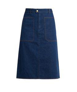 A.P.C. | Nevada Cotton-Denim Skirt