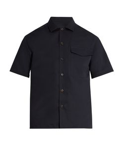 AMI | Notch-Lapel Short-Sleeved Cotton-Blend Shirt