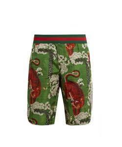 Gucci | Bengal-Print Swim Shorts