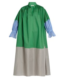 Vika Gazinskaya | Colour-Block Cotton-Poplin Dress