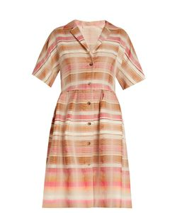 Brock Collection | Donna Striped-Jacquard Shirtdress