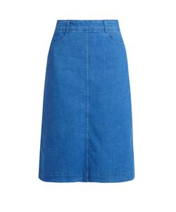 Stella McCartney | High-Rise Denim Midi Skirt