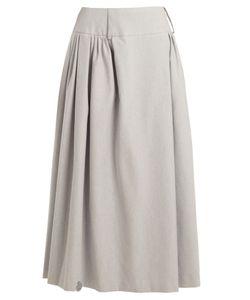 Natasha Zinko | Pleat-Detail Cotton-Blend Maxi Skirt