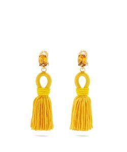 Oscar de la Renta | Short Tassel-Drop Clip-On Earrings