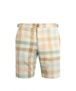Oliver Spencer | Checked-Print Cotton-Blend Shorts