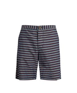 Oliver Spencer | Striped Cotton Shorts