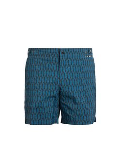 DANWARD | Leaf-Print Swim Shorts