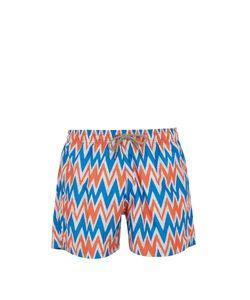 ÒKUN   Bolga Zigzag-Print Swim Shorts