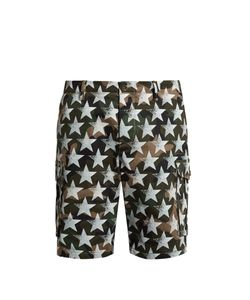 Valentino | Camustars-Print Cotton-Drill Shorts