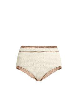 She Made Me | Sana High-Rise Crochet Bikini Briefs