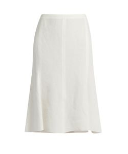 Calvin Klein Collection | Laflair Panelled Linen Skirt