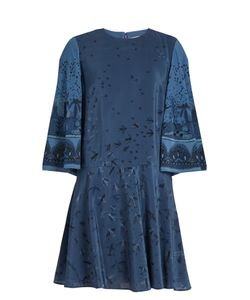 Valentino | Swallow Metamorphosis-Print Silk Mini Dress