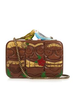 Sarah's Bag | Tiki Monsters Wooden-Box Clutch