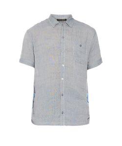 Longjourney | Camp Contrast-Panel Cotton Shirt