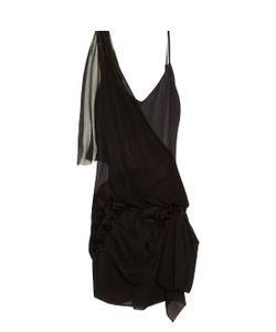 Loyd/Ford | Floral-Appliqué Silk Dress