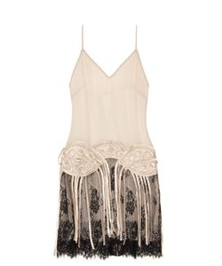 Loyd/Ford | Fringed Silk-Chiffon Slip Dress