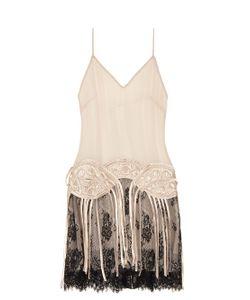 Loyd/Ford | Fringed Silk-Chiffon Slip Dress