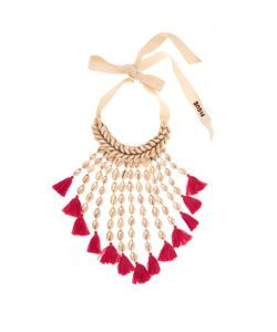 Figue | Sina Shell And Tassel Necklace