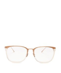 Linda Farrow | Square-Frame Roseplated Glasses