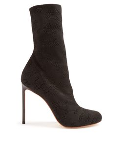 Francesco Russo | Eyelet-Knit Sock Ankle Boots