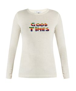 Bella Freud   Good Times Wool And Cashmere-Blend Sweater