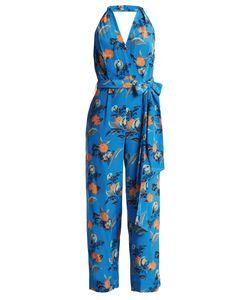 Diane von Furstenberg | Silese-Print Wide-Leg Silk Jumpsuit