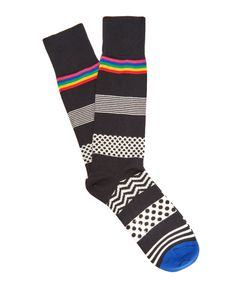 Paul Smith | Polka-Dot And Striped Cotton-Blend Socks