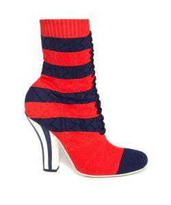 Fendi | Striped Sock Boots