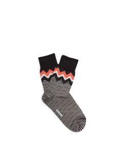 Missoni | Zigzag Striped Wool-Blend Socks