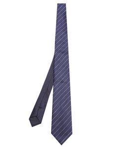 Dunhill | Striped Linen And Silk-Blend Tie